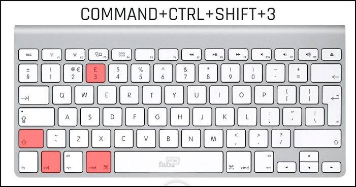 Command + Control + shift + 3
