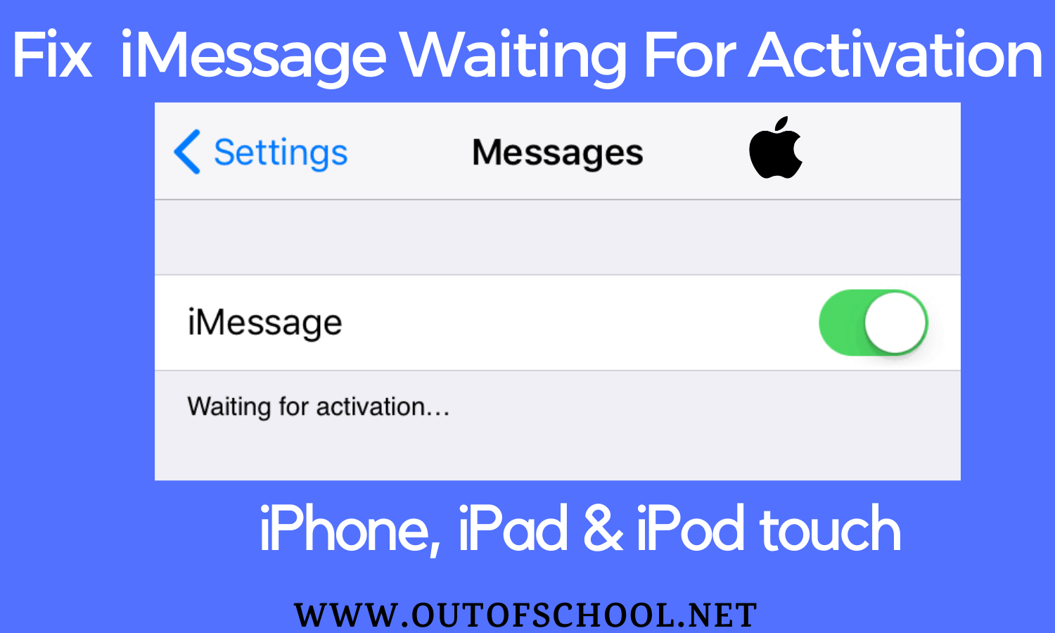 Fix iMessage waiting for activation error