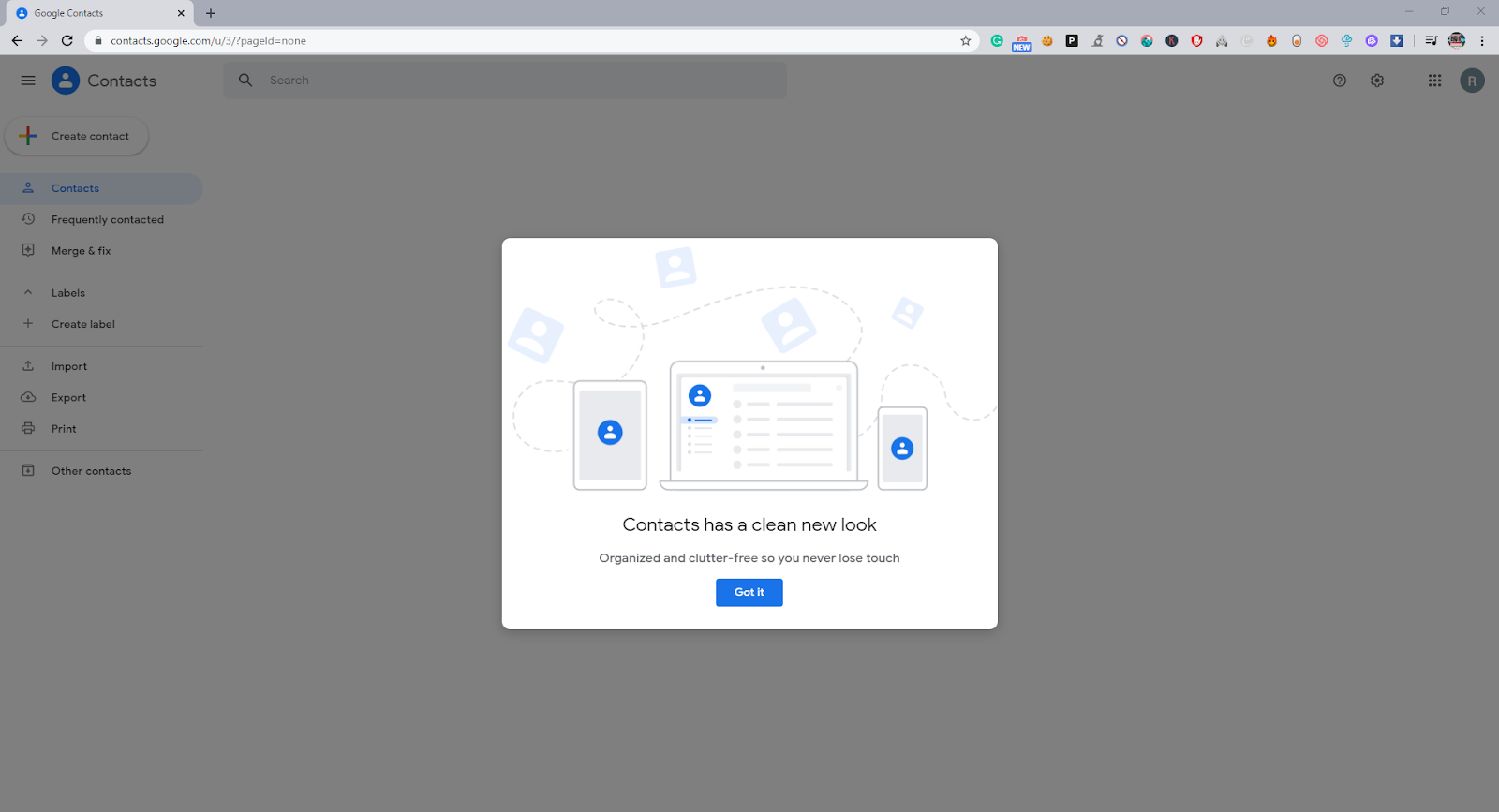 Contacts storing in google contacts