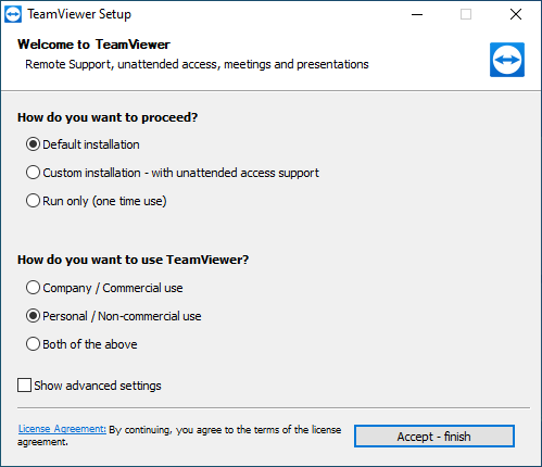Teamviewer setup for windows 10