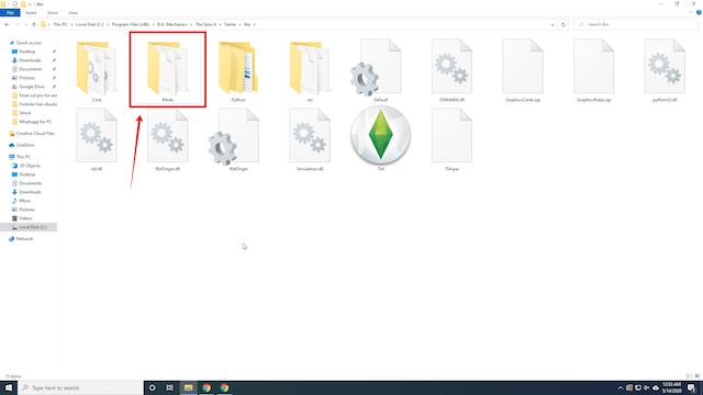 Create-a-Mods-folder