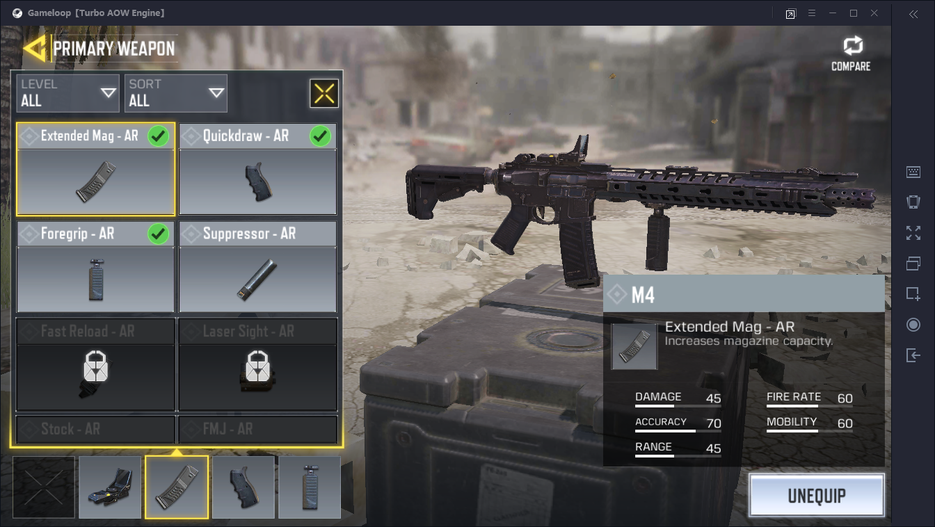 Customizing weapons in Call of Duty