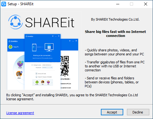 accept shareit conditions