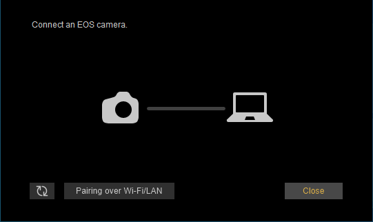 Connect an EOS camera