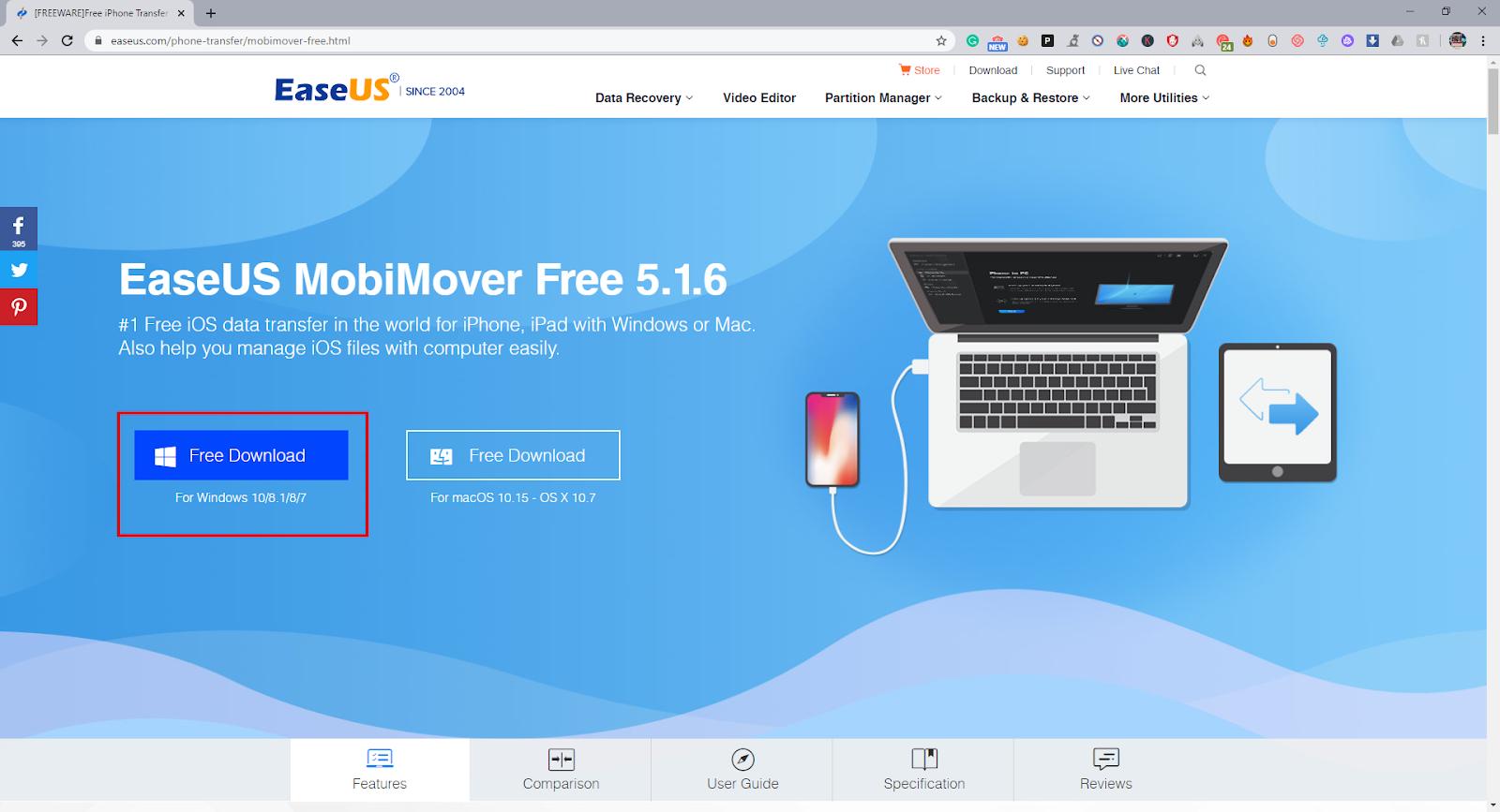 EaseUS free iBook download