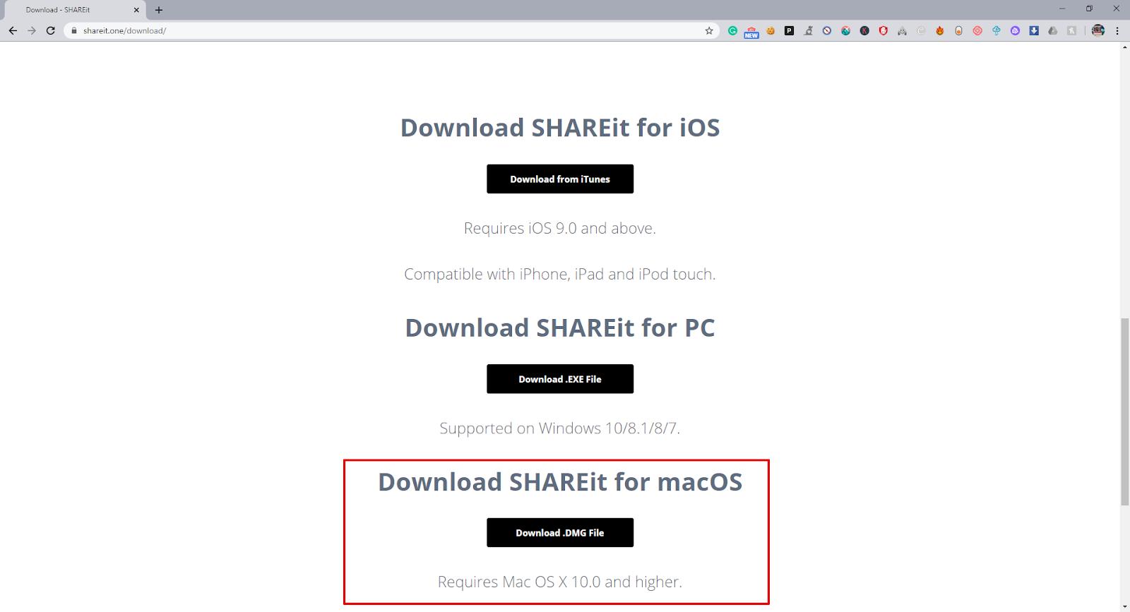 install shareit for mac