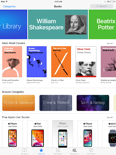 Books library on iBook