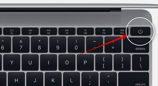 Power button on Mac